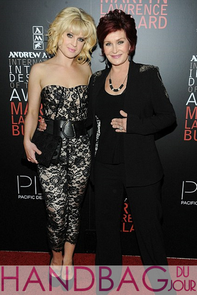 kelly-and-sharon-osbourne Tibi 'Chantal' lace strapless jumpsuit 2010 International Interior Designer of the Year Awards Ceremony