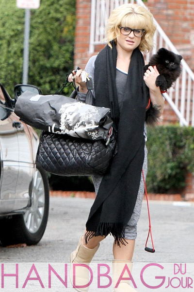 kelly osbourne Chanel Coco Cocoon Quilted Lambskin tote bag