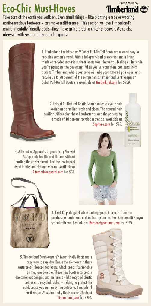 Eco-chic must-haves, presented by Timberland