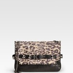 Be & D Woodstock Leopard-Print Shoulder Bag