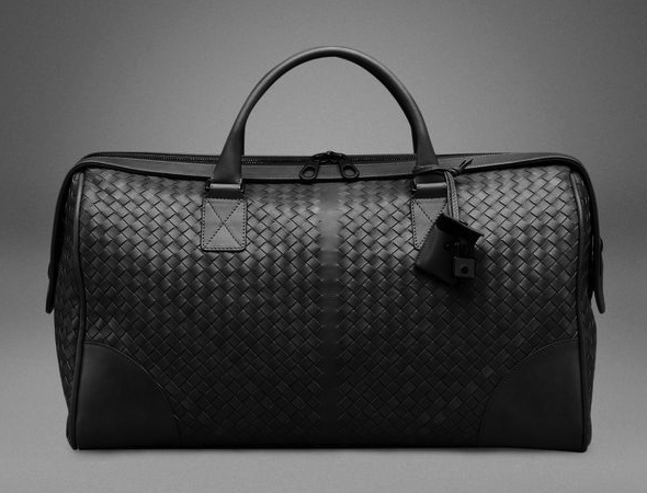 Bottega Veneta Nero Intrecciato Large Duffel Bag