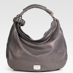 Jimmy Choo Sky Metallic Leather Hobo