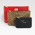 Rebecca Minkoff Leather & Calf Hair Mixed Pouch Set