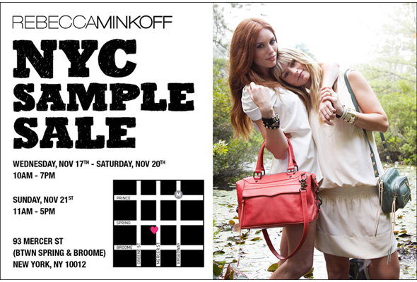 Haute Shopping Rebecca Minkoff Sample Sale