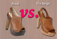 Who did it better? Fendi vs. Via Spiga Open-toed Platform Clogs