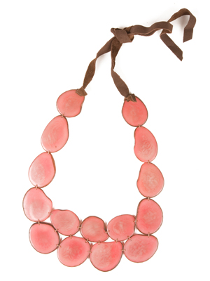 The Andean Collection Tagua Bib necklace