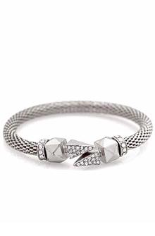 Belle Noel Dagger Glam Rock Bracelet in Silver