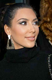 Kim Kardashian wearing Belle Noel Nugget Earrings in Silver