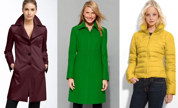 Calvin Klein Coat Long Sleeve Hidden Closures in Green Macy's GUESS? Multi Stitch Crop Jacket (Plus) in Canary Nordstrom Tahari 'Lola' Notched Collar Walking Coat in Spiceberry