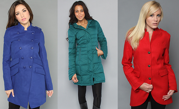Connie Coat in Azona by Jack BB Dakota The Warren Jacket in Mallard Green by Spiewak The Bracken Coat in Dark Red by BB Dakota Karmaloop