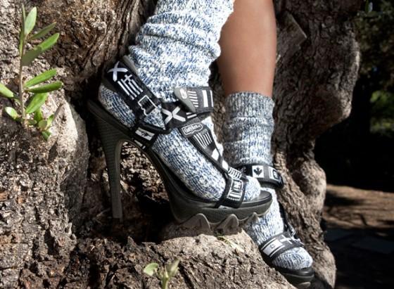 Grey Ant X Teva Stilettos black
