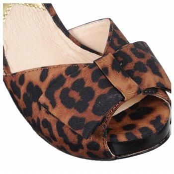MICHAEL Michael Kors Nadia leopard print Ankle-Wrap Sandal toe