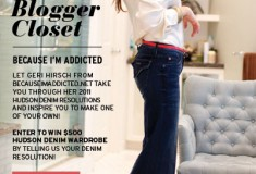 Share your denim resolutions for the chance to win $500 worth of HUDSON Jeans!