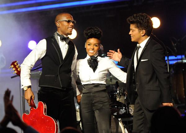 B.O.B, Janelle Monae and Bruno Mars Grammys