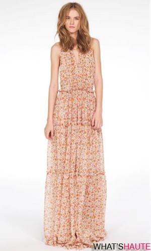 Derek Lam + eBay Boho Dress in multicolor floral print georgette