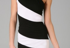 Haute buy: Alice + Olivia Striped Skye One Shoulder Dress