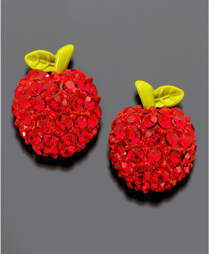 Betsey-Johnson-Crystal-Accent-Apple-Stud-Earrings