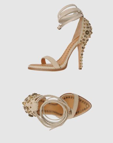 Givenchy Snakeskin Studded Sandal