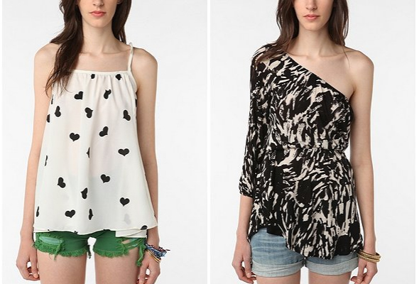 urban outfitters 6x6-by-No.6-Heart-Tunic-Top-Sparkle-&-Fade-1-Shoulder-Blurred-Tunic