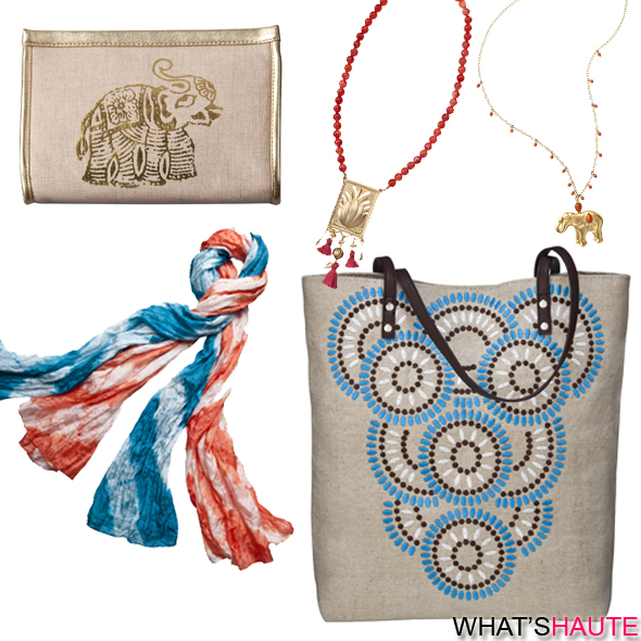Calypso-St.-Barth-for-Target-collection-elephant-pouch-case-fringe-necklaces-tie-dye-scarf-tote-bag