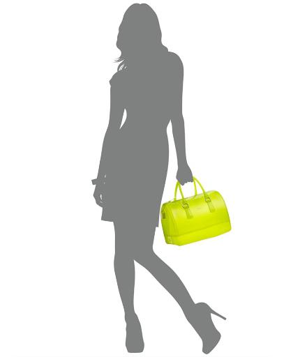 Furla-Jelly-Bauletto-Barrel-Satchel-on-model furla see through candy bag