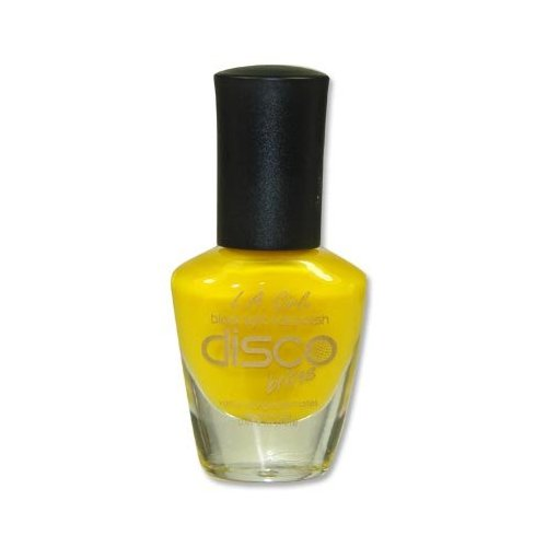 L.A. Girl Disco Brites Glow in Black Light Nail Polish Bright Yellow NL72 Psychedelic