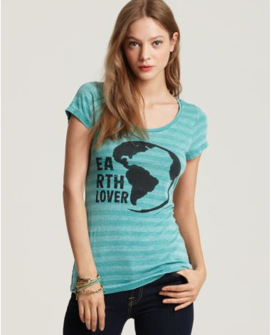 Quotation-Threads-for-Thought-Earth-Lover-Striped-Tee-Shirt
