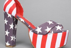 American pride: Jeffrey Campbell El Carmen Shoe in Stars and Stripes