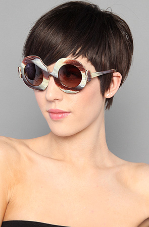 Jeremy Scott for Linda Farrow The Bone Sunglasses