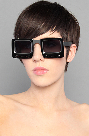 Jeremy Scott for Linda Farrow The TV Specs Sunglasses