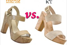 Shoe wars: KORS Michael Kors vs. MRKT cork platform sandals