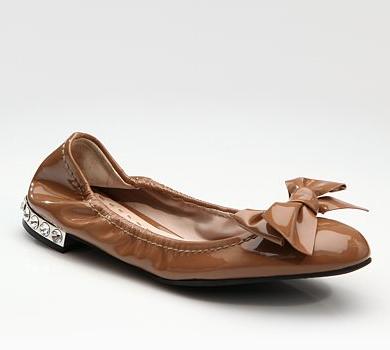 Miu-Miu-Patent-Leather-Bow-Ballet-Flats Fall 2011