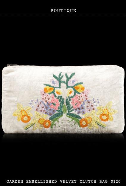 Topshop-Secret-Store-Boutique-Garden-Embellished-Velvet-Clutch-Bag