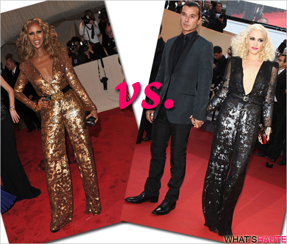 Who rocked it hotter: Iman vs. Gwen Stefani in Stella McCartney sequin jumpsuits Alexander McQueen: Savage Beauty Costume Institute Gala at the Met The Tree Of Life premiere during the 64th Annual Cannes Film Festival Palais des Festivals