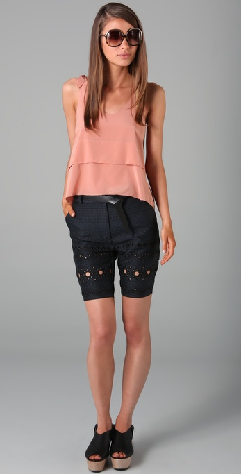 16 Sweet and Sexy Summer Shorts 3.1 Phillip Lim Flat Front Eyelet Bermuda Shorts