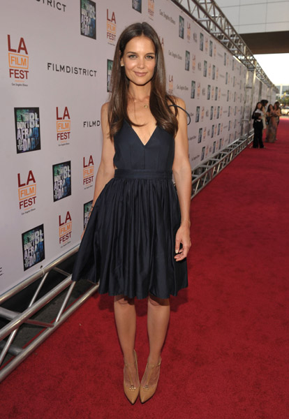 Actress Katie Holmes arrives at the Don't Be Afraid of The Dark Closing Night Gala screening during the 2011 Los Angeles Film Festival held at the Regal Cinemas L.A. LIVE on June 26, 2011 in Los Angeles, California