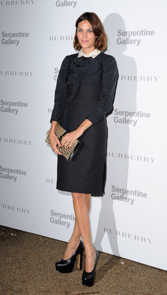 Alexa Chung attends the Burberry Serpentine Summer Party at the Serpentine Gallery on June 28, 2011 in London, England