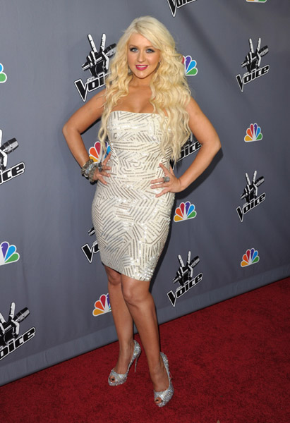 Christina Aguilera attends NBC's The Voice Finale Viewing Party at Warner Bros. Studios on June 29, 2011 in Burbank, California