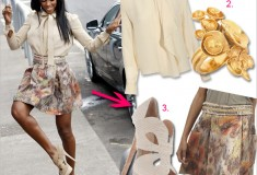 Get her haute look: Kelly Rowland in Chloé, Matthew Williamson and Fendi at The X Factor UK auditions