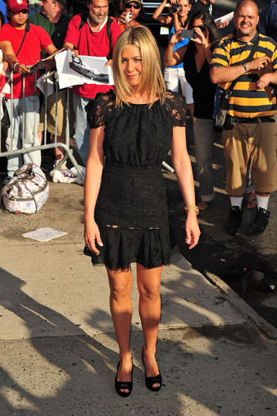 Jennifer Aniston on the streets of Manhattan on June 27, 2011 in New York City.