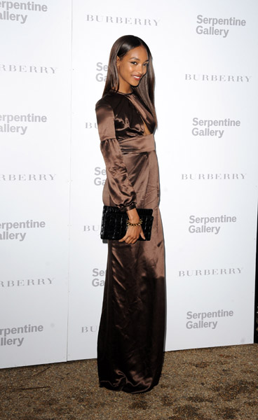 Jourdan Dunn attends The Burberry Serpentine Summer Party at The Serpentine Gallery on June 28, 2011 in London, England