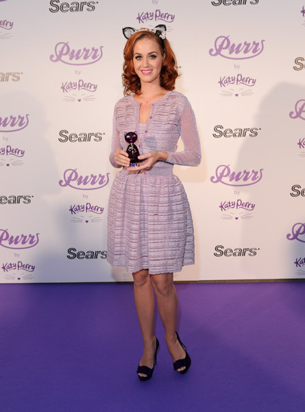 Katy Perry celebrates the launch of her debut fragrance Purr at Sears, Toronto Eaton Centre on June 30, 2011 in Toronto, Canada