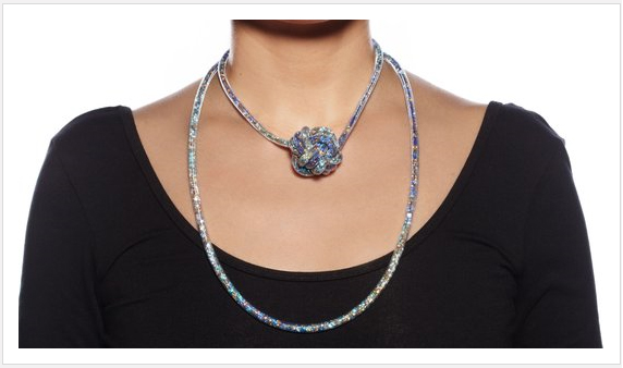 Peppercotton crystal mesh necklaces and jewelry