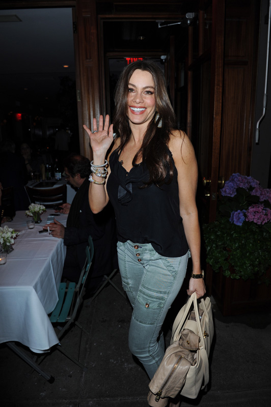Sofia Vergara wearing four Vahan bracelets while out and about in New York