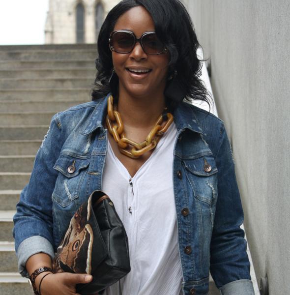 my-style-kensie-denim-jacket zara shirt fendi sunglasses jessica kagan cushman clutch vince jeans steve madden leopard wedges