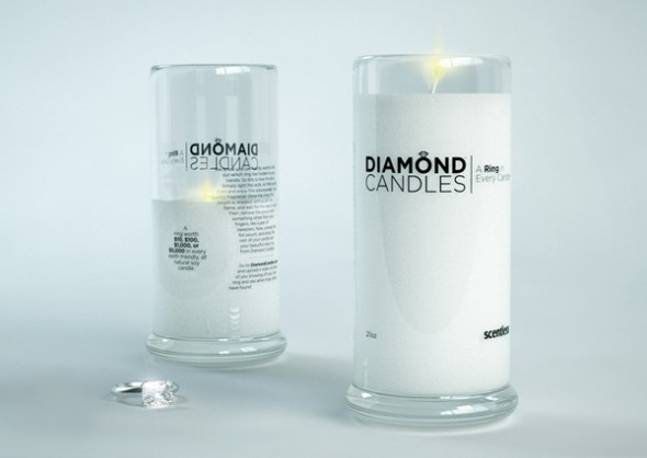 Diamond Candles soy eco-friendly candles Scentless_grande