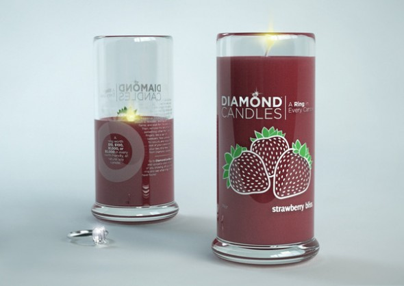 Diamond Candles soy eco-friendly candles Strawberry_Bliss_grande