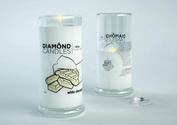 Diamond Candles soy eco-friendly candles White Chocolate_grande