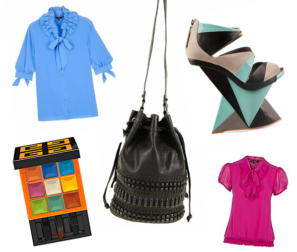 Finsk Cinza 6.5 inch wedge 4 inch platform shoes pussy bow blouses givenchy neon lights eye shadow Rebel Yell Drawstring Bucket Bag from Pour La Victoire