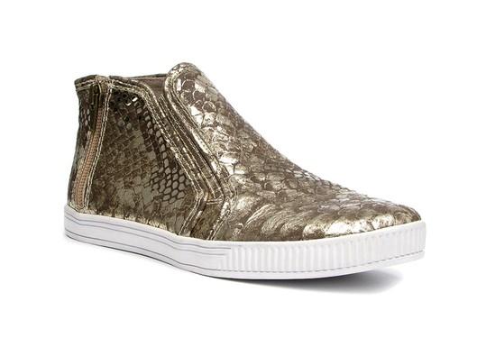 Nine West Original Sneakers gold python